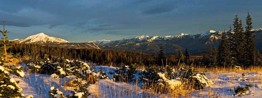 A wintery scene in southwest Montana near Big Sky.  Limited Edition - 25