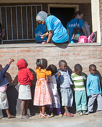 Fatima Khonat and children. Visit to St Mary's Chemusa Under 6 centre in Blantyre. Three-day trip to Malawi with the charity Mary's Meals, June 26-29. 2016.