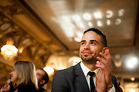 An attendee of the Citizen Schools Gala held at the Fairmont Copley Plaza Hotel.