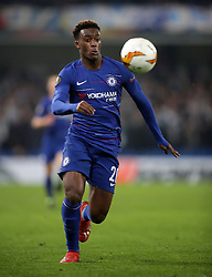 Chelsea's Callum Hudson-Odoi during the UEFA Europa League round of 32 second leg match at Stamford Bridge, London.