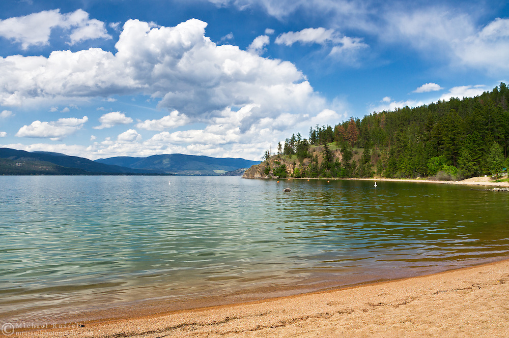 Otter Bay Beach at Ellison Provincial Park on the shores of Okanagan Lake near Vernon, British Columbia, Canada