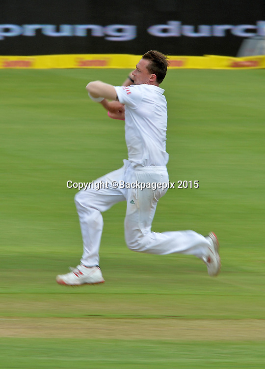 Dale Steyn of South Africa during Day 1 of the 2015 Sunfoil Test Series Cricket Match between South Africa and the West Indies at Newlands Stadium, Cape Town on 2 January 2015 ©Chris Ricco/BackpagePix