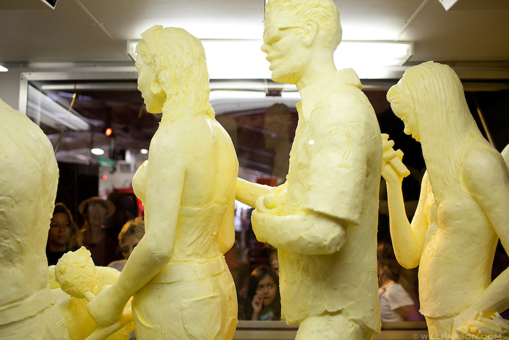 Carved butter statues.
