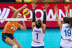 07-10-2018 JPN: World Championship Volleyball Women day 8, Nagoya<br /> Netherlands - Puerto Rico 3-0 / Nicole Oude Luttikhuis #17 of Netherlands