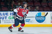 KELOWNA, CANADA -FEBRUARY 19: Mitch Topping #25 of the Tri City Americans skates against the Kelowna Rockets on February 19, 2014 at Prospera Place in Kelowna, British Columbia, Canada.   (Photo by Marissa Baecker/Getty Images)  *** Local Caption *** Mitch Topping;