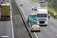 An RTA westbound on the A14 trunk road between Junctions 9 and 8 around Kettering in Northamptonshire