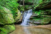 Hidden Falls in Queer Creek Gorge, is a side falls at Cedar Falls, in Hocking Hills State Park, near Logan, Ohio.