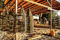 Gaiolas para criação de ostras em Santo Antonio de Lisboa. Florianópolis, Santa Catarina, Brasil. / Oyster farming cages in Santo Antonio de Lisboa district. Florianopolis, Santa Catarina, Brazil.
