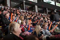KELOWNA, CANADA - NOVEMBER 9: Kelowna Rockets fans shake the Home Depot noise makers on November 9, 2013 at Prospera Place in Kelowna, British Columbia, Canada.   (Photo by Marissa Baecker/Shoot the Breeze)  ***  Local Caption  ***