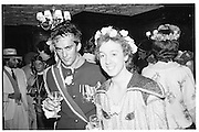 Justin Byam Shaw and Geordie Greig, Piers Gaveston Ball, Park Lane Hotel 13.05.83© Copyright Photograph by Dafydd Jones 66 Stockwell Park Rd. London SW9 0DA Tel 020 7733 0108 www.dafjones.com