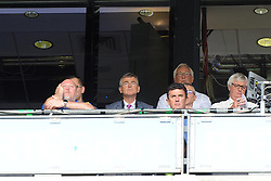 The monday game, RTE GAA pundits watch on during the Croke park for the All Ireland quarter final replay.<br /> Pic Conor McKeown