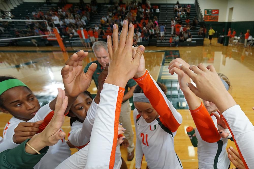 2014 Miami Hurricanes Volleyball vs North Carolina-Greensboro