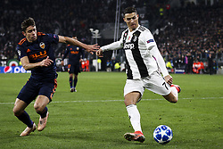 November 27, 2018 - Turin, Italy - Juventus forward Cristiano Ronaldo (7) in action during the Uefa Champions League Group Stage football match n.5 JUVENTUS - VALENCIA on 27/11/2018 at the Allianz Stadium in Turin, Italy. (Credit Image: © Matteo Bottanelli/NurPhoto via ZUMA Press)
