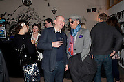 David Shilling; , Welcome to Mollywood. New paintings by Molly Parkin. RED, 1-3 rivington st. london. 27 April 2011. <br /> <br /> -DO NOT ARCHIVE-© Copyright Photograph by Dafydd Jones. 248 Clapham Rd. London SW9 0PZ. Tel 0207 820 0771. www.dafjones.com.