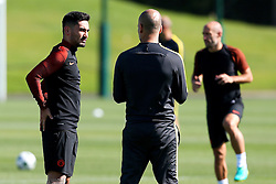 Manchester City manager Josep Guardiola talks with Ilkay Gundogan - Mandatory by-line: Matt McNulty/JMP - 23/08/2016 - FOOTBALL - Manchester City - Training session ahead of Champions League qualifier against Steaua Bucharest