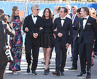 Donata Wenders, director, Wim Wenders, Sophie Semin, Reda Kateb and Jens Harze at the premiere of the film Les Beaux Jours d'Aranjuez (The Beautiful Days of Aranjuez) at the 73rd Venice Film Festival, Sala Grande on Thursday September 1st 2016, Venice Lido, Italy.