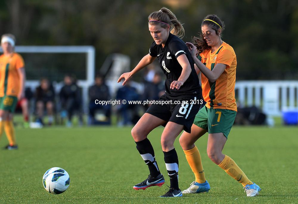 Hannah Hoeksema. New Zealand Junior Football Ferns v Australia Young Matildas. Women's U20 International. Match 3. Seddon Fields, Auckland. Monday 29 July 2013. Photo: Andrew Cornaga/www. Photosport.co.nz