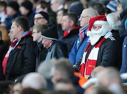 A Stoke City fan dressed as Santa Claus - Photo mandatory by-line: Dougie Allward/JMP - Mobile: 07966 386802 - 06/12/2014 - SPORT - Football - Stoke - Britannia Stadium - Stoke City v Arsenal - Barclays Premie League