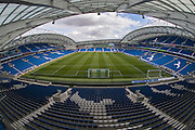 A general view of the American Express Community Stadium ahead of the EFL Cup match between Brighton and Hove Albion and Colchester United at the American Express Community Stadium, Brighton and Hove, England on 9 August 2016.