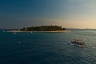 Later afternoon view of Beachcomber island. Mamanuca islands, Fiji