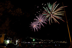 Fireworks over St. Thomas Harbor
