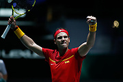 Rafael Nadal, player of Spain Team, celebrates the victory during his match played against Karen Khachanov, player of Russia Team, during the Davis Cup 2019, Tennis Madrid Finals 2019 on November 19, 2019 at Caja Magica in Madrid, Spain - Photo Oscar J Barroso / Spain ProSportsImages / DPPI / ProSportsImages / DPPI