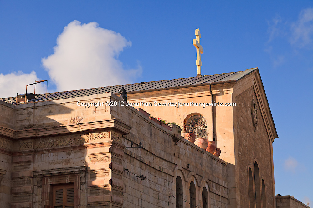 A church in the Old City of Jerusalem. WATERMARKS WILL NOT APPEAR ON PRINTS OR LICENSED IMAGES.