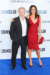© Licensed to London News Pictures. 03/10/2013, UK. Ridley Scott; Giannina Facio, The Counselor - special screening, Odeon West End cinema Leicester Square, London UK, 03 October 2013. Photo credit : Richard Goldschmidt/Piqtured/LNP