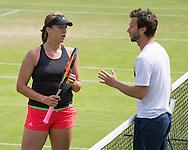 DIETER KINDLMANN (GER) und ANASTASIA PAVLYUCHENKOVA, Training,Aorangi Park,<br /> <br /> <br /> Tennis - Wimbledon 2016 - Grand Slam ITF / ATP / WTA -  AELTC - London -  - Great Britain  - 5 July 2016.