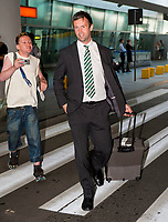 29/07/14 <br /> WARSAW - POLAND<br /> Ronny Deila arrives in Poland ahead of Celtic's Champions League qualifier against Legia Warsaw.