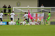 Bromley's Jack Holland(6) fires over a shot at goal during the Vanarama National League match between Forest Green Rovers and Bromley FC at the New Lawn, Forest Green, United Kingdom on 17 September 2016. Photo by Shane Healey.