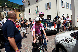 Annemiek van Vleuten (NED) after winning Stage 6 of 2019 Giro Rosa Iccrea, a 12.1 km individual time trial from Chiuro to Teglio, Italy on July 10, 2019. Photo by Sean Robinson/velofocus.com