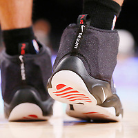 19 March 2014: San Antonio Spurs guard Danny Green (4) shoes are seen during the San Antonio Spurs 125-109 victory over the Los Angeles Lakers at the Staples Center, Los Angeles, California, USA.