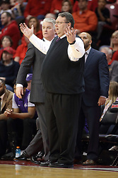 03 February 2018:  Marty Simmons during a College mens basketball game between the Evansville Purple Aces and Illinois State Redbirds in Redbird Arena, Normal IL