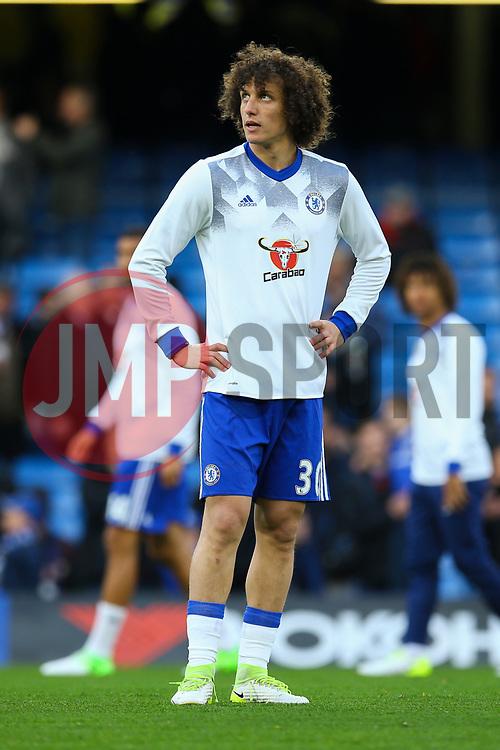 David Luiz of Chelsea warms up - Mandatory by-line: Jason Brown/JMP - 08/05/17 - FOOTBALL - Stamford Bridge - London, England - Chelsea v Middlesbrough - Premier League
