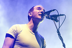 © Licensed to London News Pictures. 14/03/2015. London, UK.   Caribou performing live at Brixton Academy.   In this picture - Daniel Snaith.  Caribou is Daniel Snaith, a Canadian composer, musician an recording artist who has performed under the stage names Caribou, Manitoba and Daphni.  Photo credit : Richard Isaac/LNP