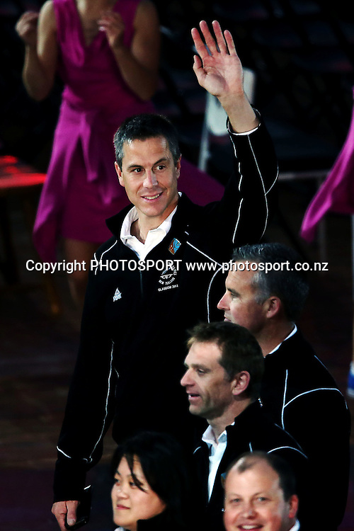 Chef de Mission Rob Waddell. Opening Ceremony of the Glasgow 2014 Commonwealth Games at Celtic Park, Glasgow, Scotland. Wednesday 23rd July 2014. Photo: Anthony Au-Yeung / photosport.co.nz