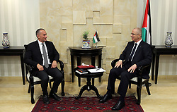 May 29, 2017 - Ramallah, West Bank, Palestinian Territory - Palestinian Prime Minister Rami Hamdallah meets with Nikolay Mladenov, United Nations Special Coordinator for the Middle East Peace Process, in the West Bank city of Ramallah on May 29, 2017  (Credit Image: © Prime Minister Office/APA Images via ZUMA Wire)