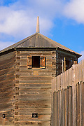 Wooden guard tower with cannons at Fort Ross, Fort Ross State Historic Park (National Historic Site), Sonoma County, California