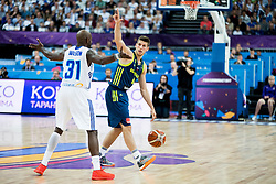 Jamar Wilson of Finland vs Aleksej Nikolic of Slovenia during basketball match between National Teams of Finland and Slovenia at Day 3 of the FIBA EuroBasket 2017 at Hartwall Arena in Helsinki, Finland on September 2, 2017. Photo by Vid Ponikvar / Sportida