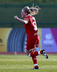 Millie Farrow of Bristol City Women celebrates scoring a goal - Mandatory by-line: Robbie Stephenson/JMP - 02/01/2012 - FOOTBALL - Stoke Gifford Stadium - Bristol, England - Bristol City Women v Aston Villa Ladies - FA Women's Super League 2