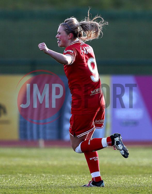 Millie Farrow of Bristol City Women celebrates scoring a goal - Mandatory by-line: Robbie Stephenson/JMP - 02/01/2012 - FOOTBALL - Stoke Gifford Stadium - Bristol, England - Bristol City Women v Aston Villa Ladies - FA Women's Super League 2