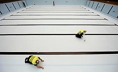 20131204 EM Svømning - Dag 3 - Bassin bygges