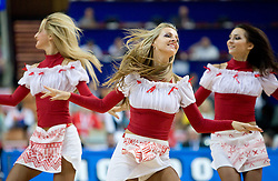Ukrainian cheerleaders Red Foxes during the EuroBasket 2009 3rd place match between Slovenia and Greece, on September 20, 2009, in Arena Spodek, Katowice, Poland.   (Photo by Vid Ponikvar / Sportida)