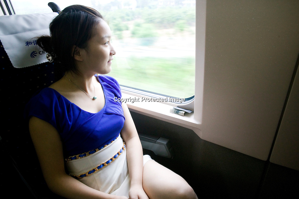 September 11, 20121Beijing-Shanghai bullet train:.Dai Ping, a 19 years old girl living and working in a Nanjing.beauty parlor. She says she takes the high speed train more than 20.times a year, to go to Shanghai meet her boyfriend. The two cities are.separated by a distance of 300km, but it now takes only one hour. She.says her generation is not particularly impressed with the train,.they're used to it and now consider it a normal thing.