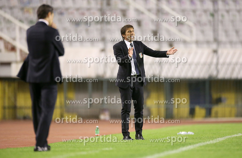 12.06.2015, Stadion Poljud, Split, CRO, UEFA Euro 2016 Qualifikation, Kroatien vs Italien, Gruppe H, im Bild Antonio Conte // during the UEFA EURO 2016 qualifier group H match between Croatia and and Italy at the Stadion Poljud in Split, Croatia on 2015/06/12. EXPA Pictures &copy; 2015, PhotoCredit: EXPA/ Pixsell/ Igor Kralj<br /> <br /> *****ATTENTION - for AUT, SLO, SUI, SWE, ITA, FRA only*****