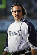 OAKLAND, CA - DECEMBER 19:  Head Coach Jeff Fisher of the Tennessee Titans during the game against the Oakland Raiders at Network Associates Coliseum on December 19, 2004 in Oakland, California. The Raiders defeated the Titans 40-35. ©Paul Anthony Spinelli *** Local Caption *** Jeff Fisher