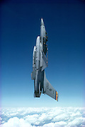 F-16 Falcon in vertical flight