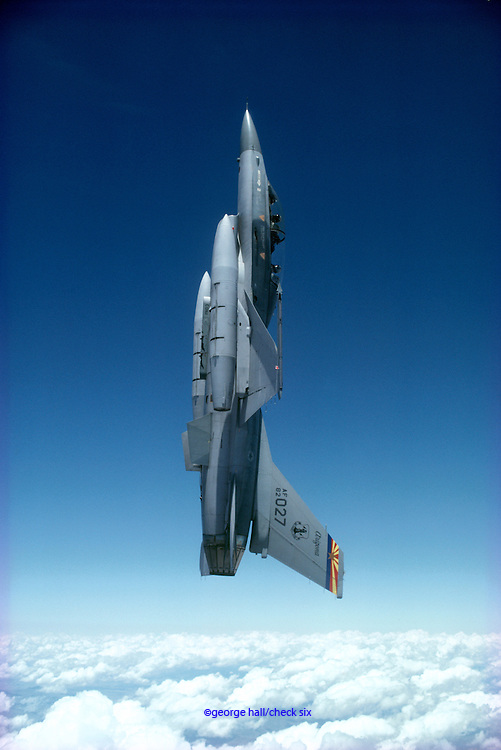 F-16 Falcon in vertical flight