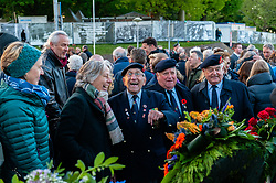 May 4, 2019 - Nijmegen, Gelderland, Netherlands - On May 4th in Nijmegen, several ceremonies remember the victims during the WWII. Mayor of Nijmegen Hubert Bruls unveiled a plaque with an honorary list of the fallen soldiers of the Second World War on Plein 1944 square. After that, the commemorations took place at the ''Kitty de Wijze'', a monument that it has become the symbol of the Jewish in Nijmegen who were deported and never come back. Then from St. Stephen's Church a silent procession took the streets to the ''Keizer Traianusplein'', where two  monuments in remember of the victims of the WWII stand up. The official ceremony started with two minutes of silence, after that, Mayor of Nijmegen Hubert Bruls, gave a speech remembering the victims and the facts happened during the war. The Netherlands is the only country in Europe that commemorates the victims of the Second World War and celebrates its liberation on two separate but consecutive days. On 4 May they remember the Dutch victims of wartime, and on May 5th is the day that they celebrate their freedom. (Credit Image: © Romy Arroyo Fernandez/NurPhoto via ZUMA Press)